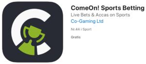 ComeOn Mobil App Til Apple