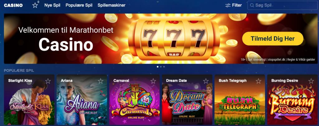 Spil casino hos Marathonbet